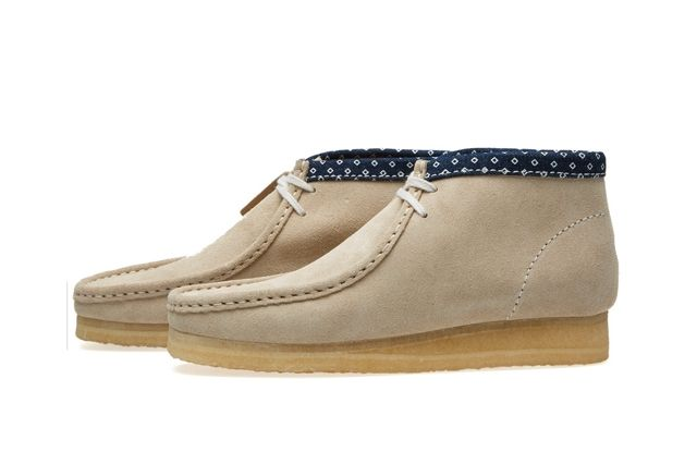 Clarks Wallabee Boot Chalk Combi 2