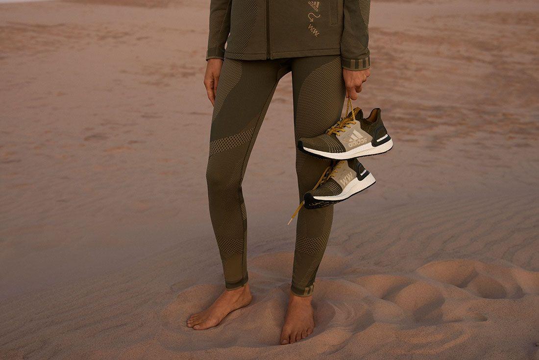 Wood Wood Adidas Ultraboost 19 Sand Desert In Hand
