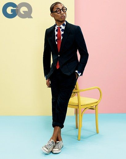 Copilot Style Celebrities 201404 1395689353724 Pharrell Williams Gq Magazine April 2014 Mens Style Fashion Color 04