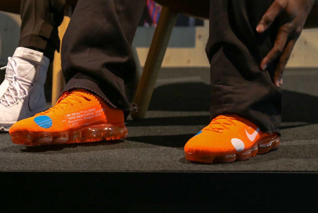 Off White Nike Vapormax Mercurial Orange 4