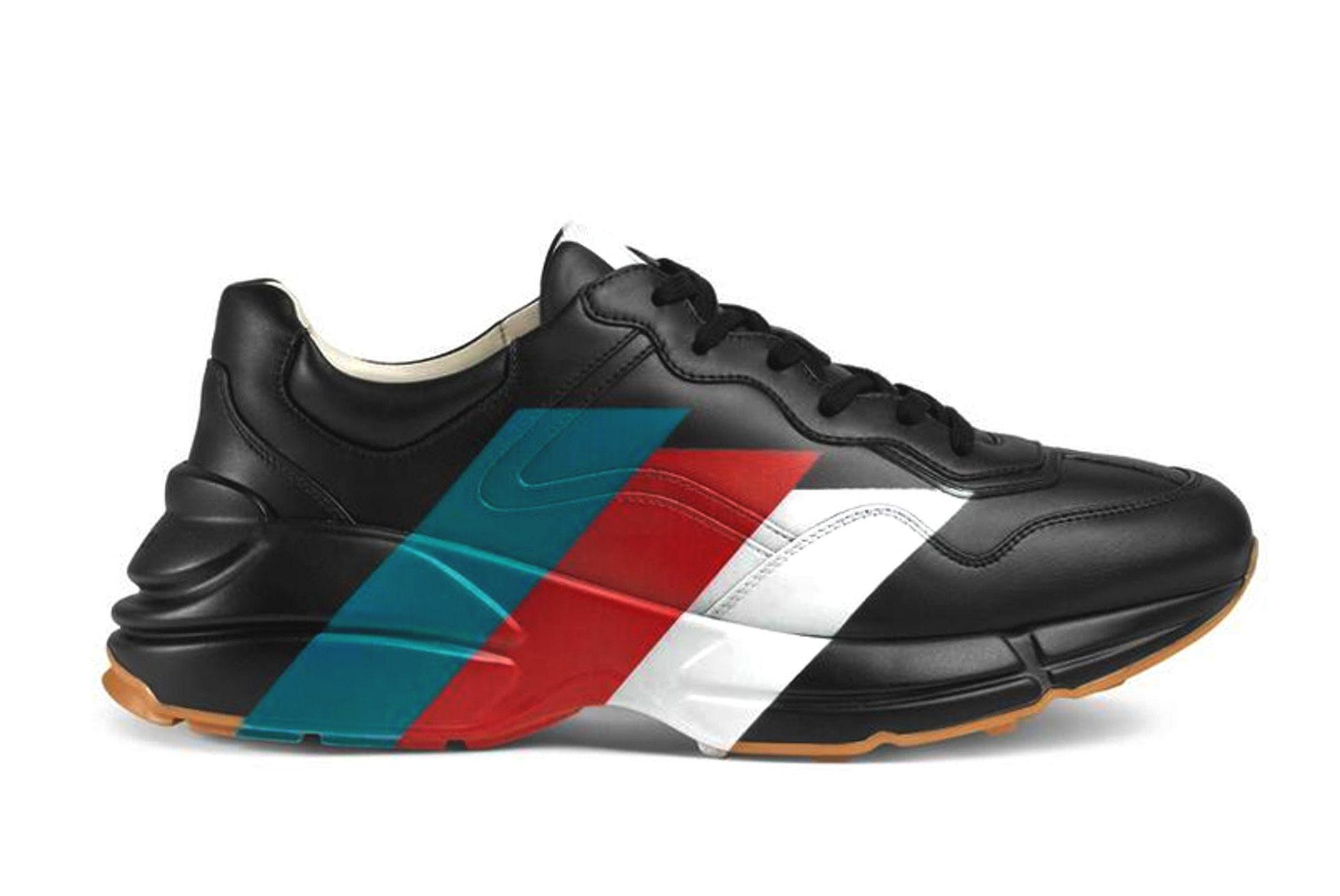 Gucci Rhyton Web Print Sneakers Black White Release 03 Sneaker Freaker