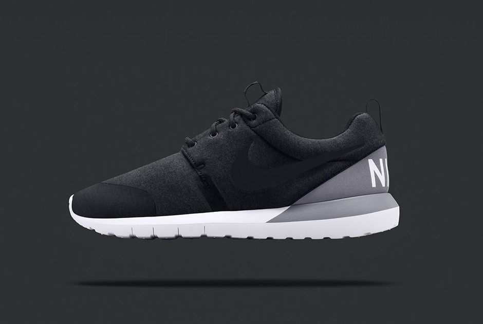 Nike Roshe Run Nm Tech Fleece Black Release Date