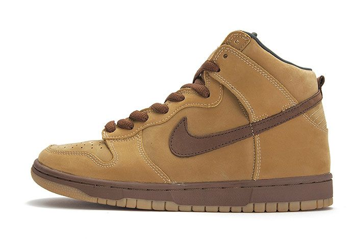 Nike Sb Dunk Mid Wheat Lateral Side