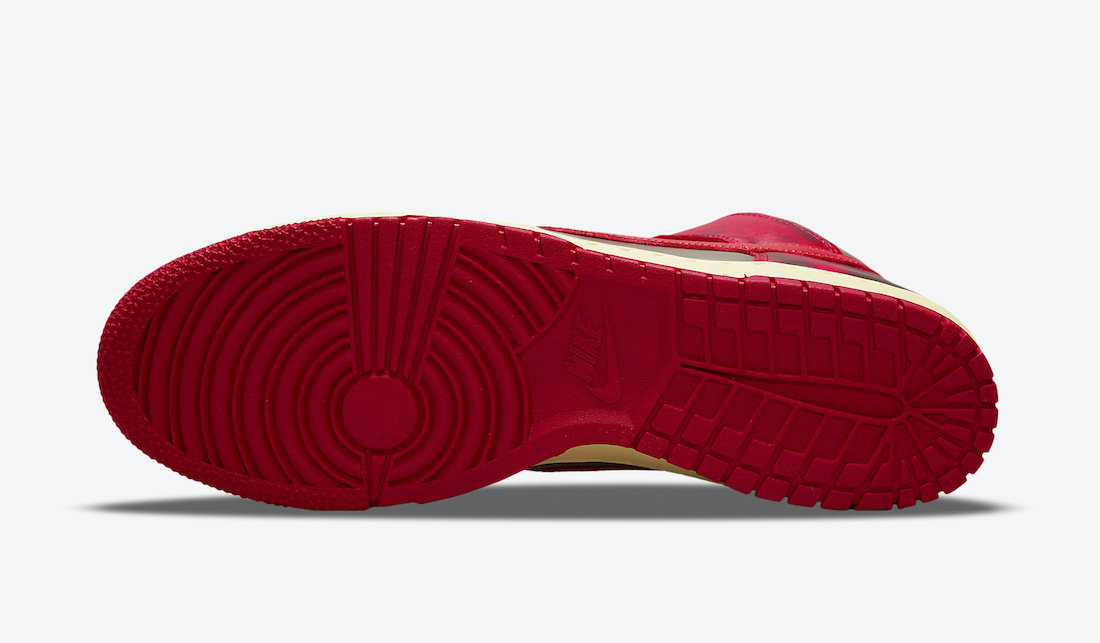 Nike Dunk High Acid Wash Red