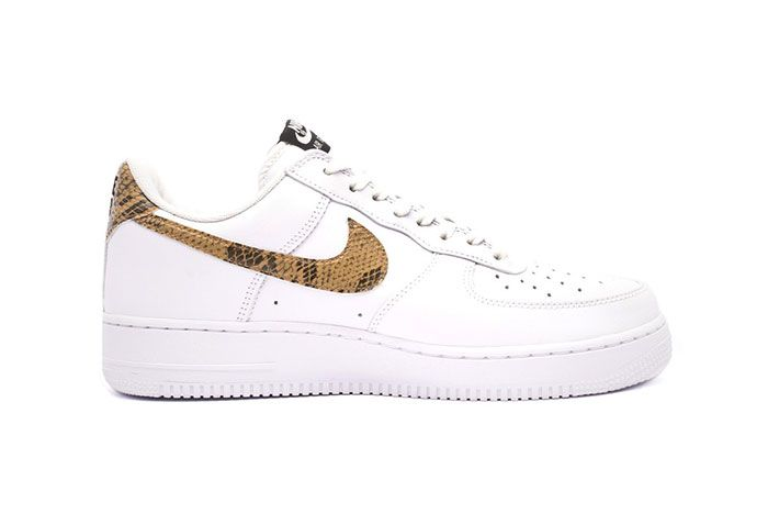 Nike Air Force 1 Low Premium Ivory Snake Lateral Side Shot