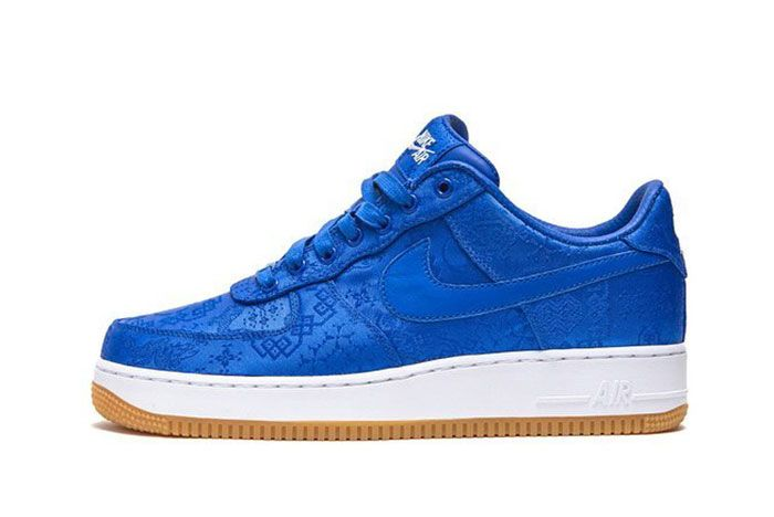 Nike Air Force 1 Clot Blue Silk Lateral