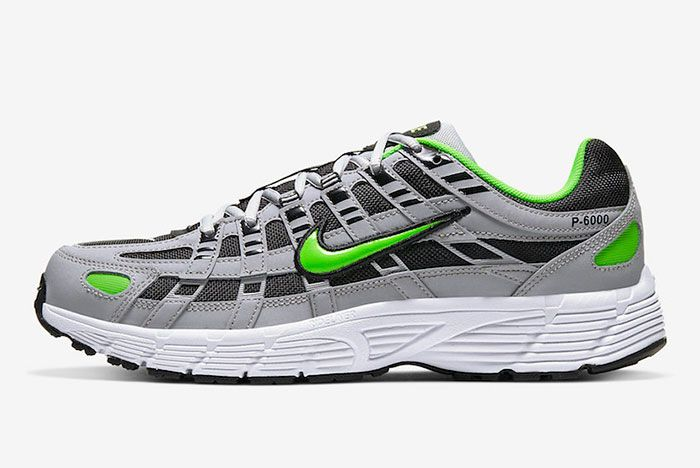 Nike P 6000 Wolf Grey Electric Green Cd6404 005 Release Dateofficial