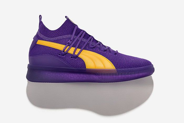 Puma Clyde Court City Pack Purple Yellow