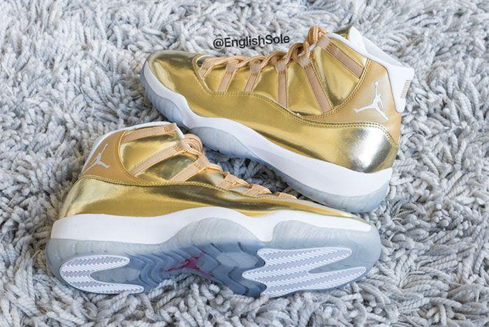 Air Jordan 11 Ovo Metallic Gold Sample 5 Ig Leak
