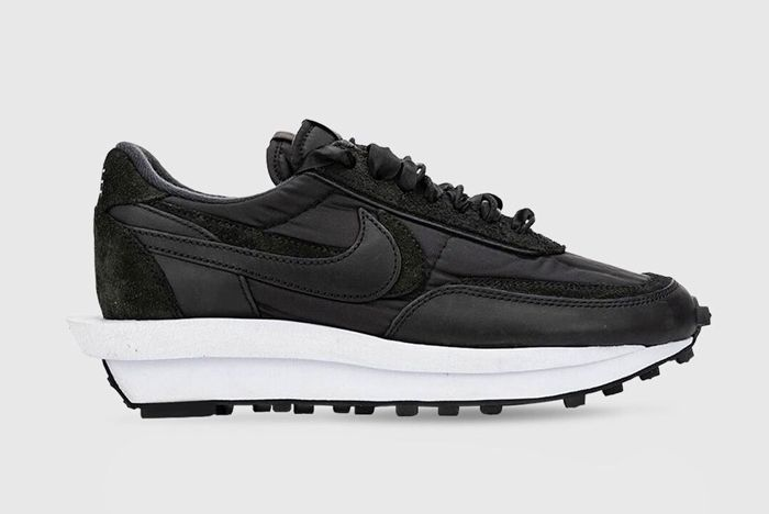 Sacai X Nike Ldwaffle Black Lateral Side No Watermark