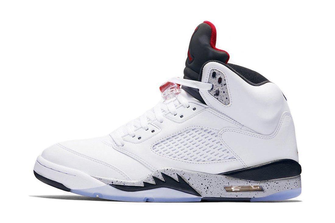 Air Jordan 5 White Cement6