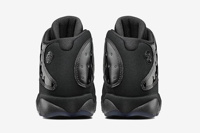 Air Jordan 13 Cap Gown Black 414571 012 Release Date Heel