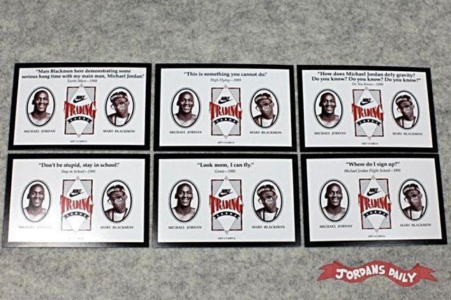 Vintage Nike Mars Blackmon Michael Jordan Trading Cards 12 1