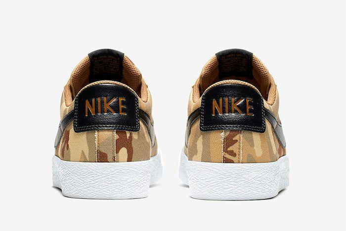 Nike Sb Blazer Low Desert Camo 889053 200 Release Date 5 Heel Shot