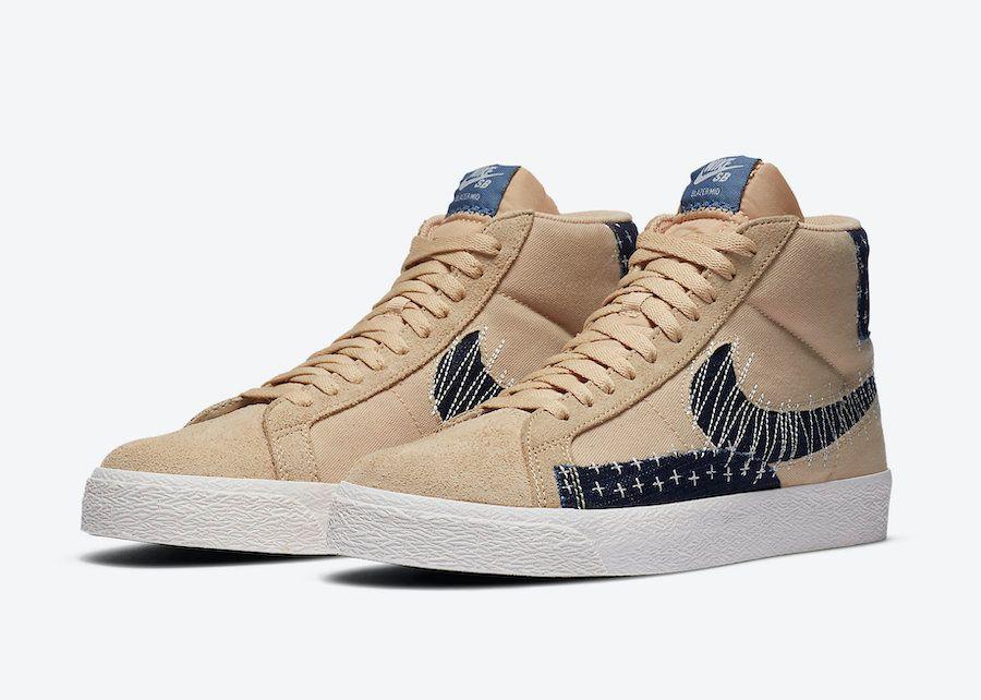 Nike SB Blazer Mid Sesame Angled