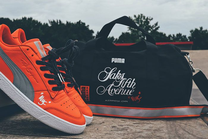 Saks Fifth Avenue Puma Alexander John Detour Ralph Sampson Release4 Bag And Red