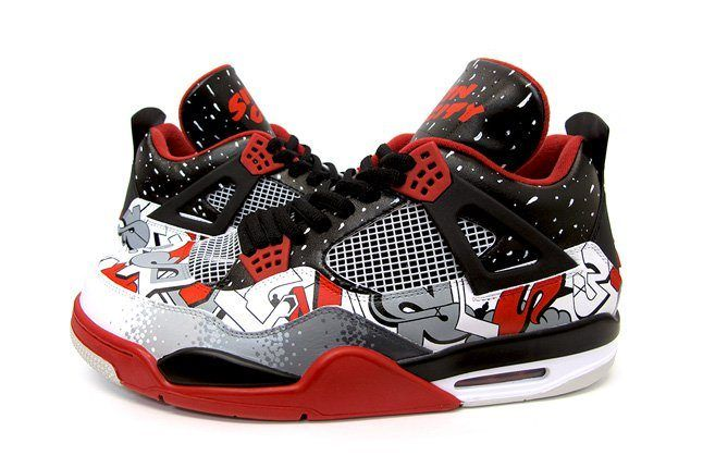 Sekure D Air Jordan 4 Custom Sin City 2