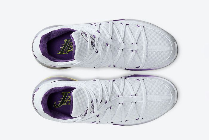 Nike Le Bron 17 Low Lakers Home Cd5007 102 Top