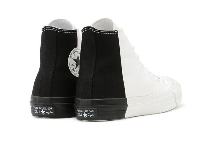 Converse Japan Chuck Taylor Monopanel Hi White Black Back