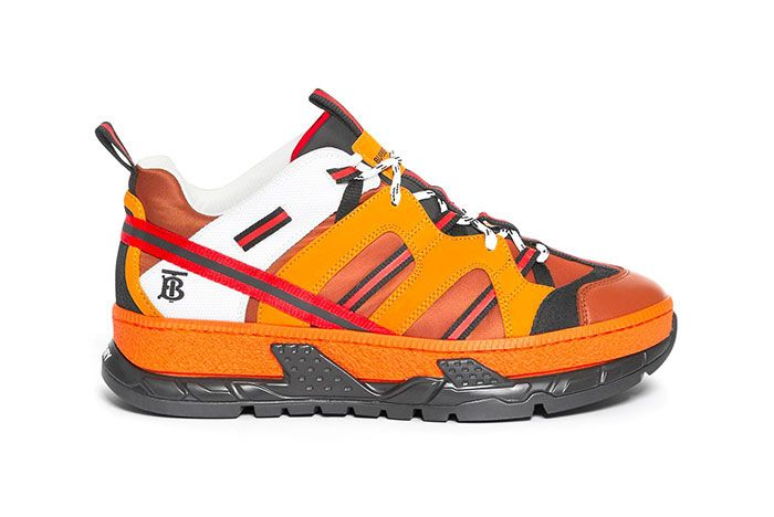Burberry Union Sneaker Orange Lateral