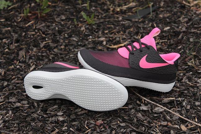Nike Solarsoft Mocassin Black Pink Profile 1
