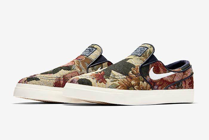 Nike Sb Janoski Slip On Floral 2