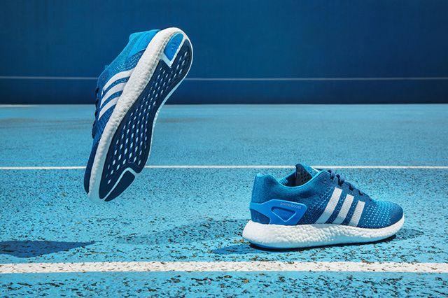 Adidas Primeknit Pure Boost Solar Blue 3