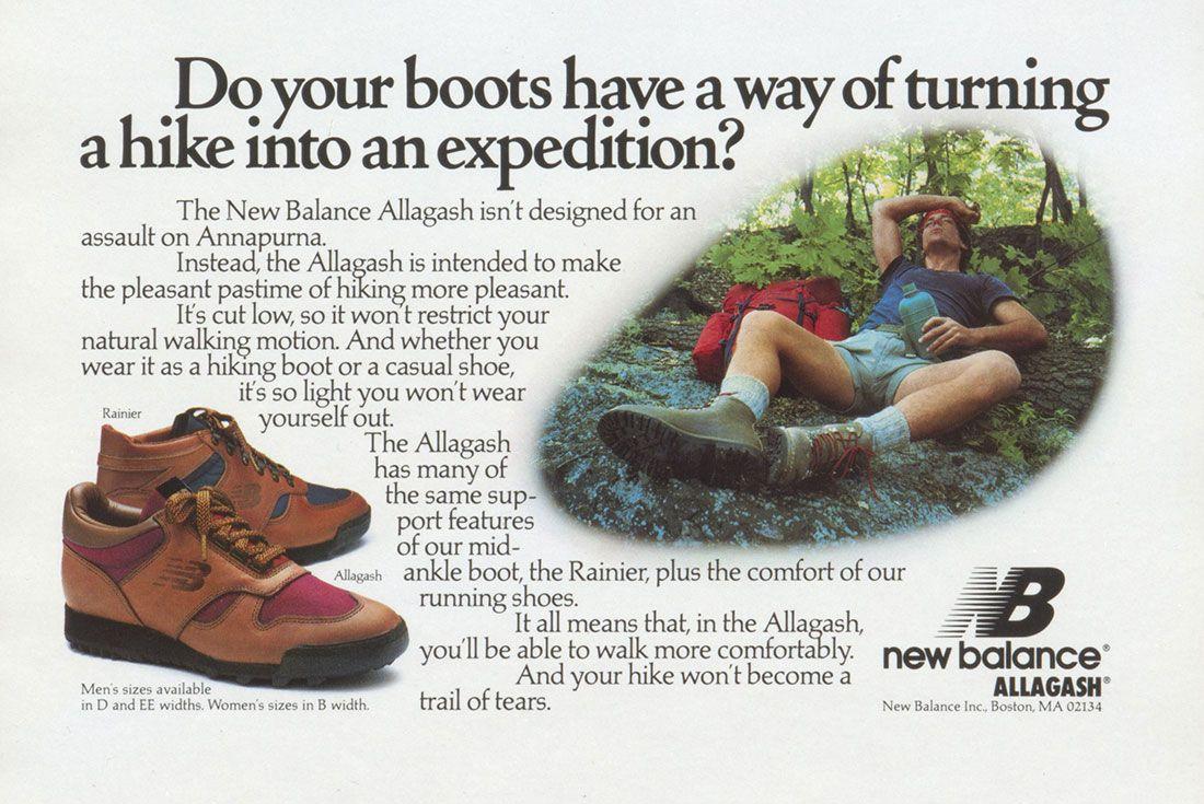 New Balance Alagash Vintage Ad
