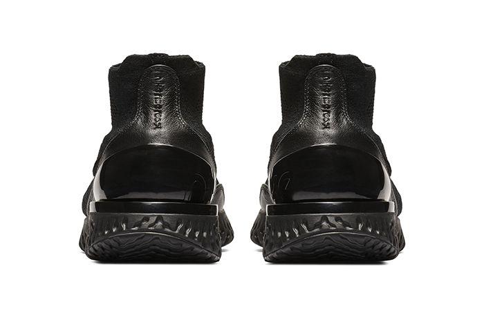 Nike Rise React Flyknit Triple Black 4