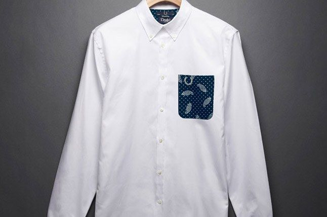 Fred Perry Drakes White Shirt 1