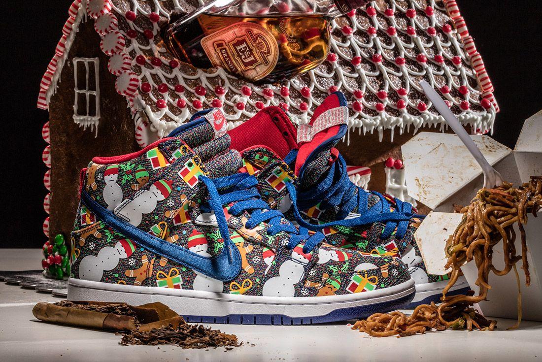 Concepts X Nike Sb Ugly Sweater Dunk 2017 Sneaker Freaker 11