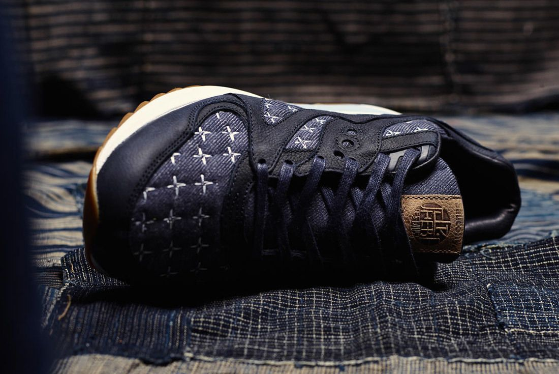 Up There Store Saucony Grid 8000 Sashiko Sneaker Freaker 4