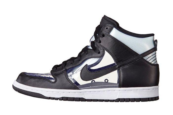 Comme Des Garç Ons X Nike Dunk High Clear11