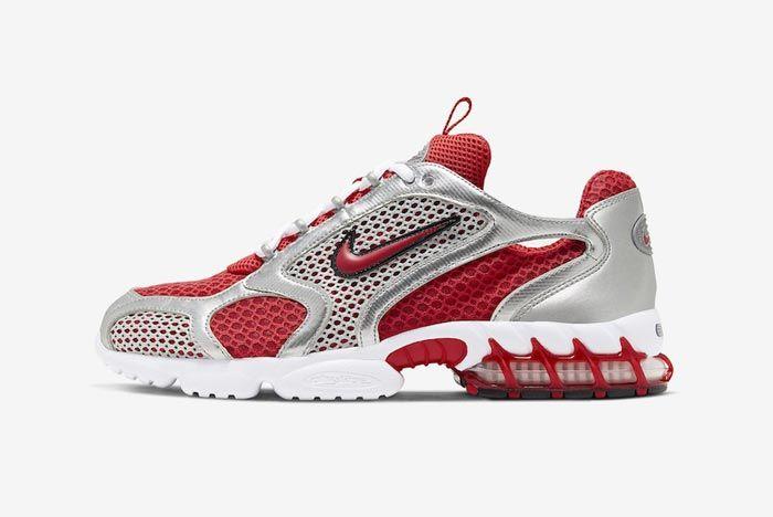 Nike Air Zoom Spiridon Caged Varsity Red Lateral