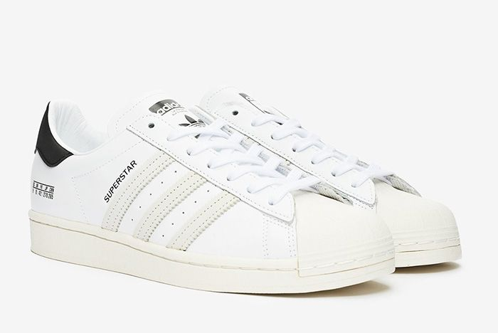 Adidas Superstar Misplaced Size Tag Fv2808 White Front Angle