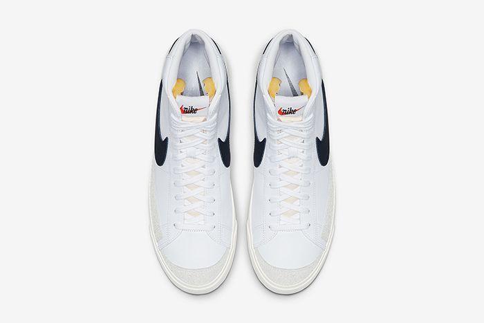 Nike Blazer Mid Vintage 77 White Black Bq6806 100 Release Date Top Down