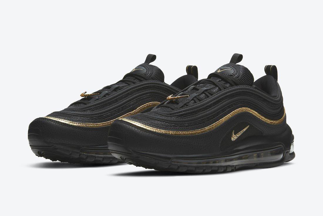 Nike Air Max 97 Black/Metallic Gold