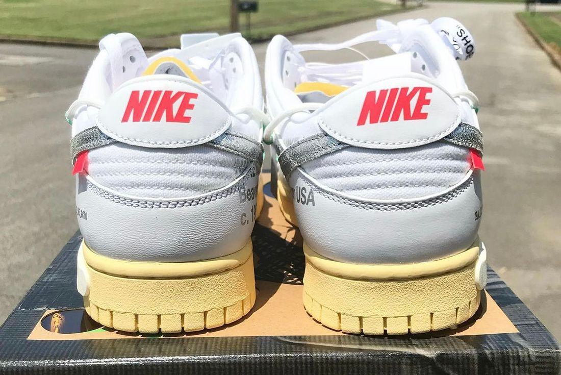 Off-White x Nike Dunk Low '1 of 50' leaked shot