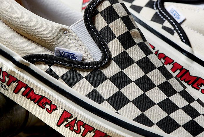 Vans Checkerboard Slip On Fast Times Tongue