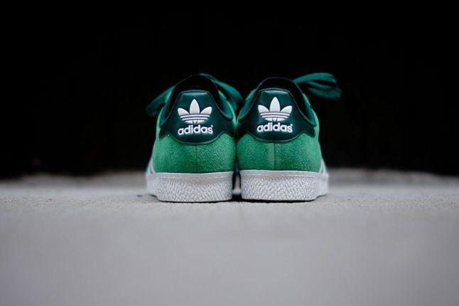 Adidas Gazelle Ii Green Heel Profile 1