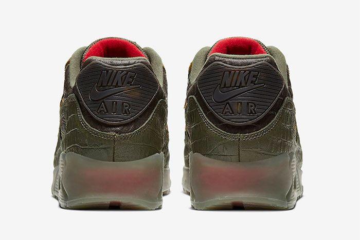 Nike Air Max 90 Animal Crocodile Print Heel