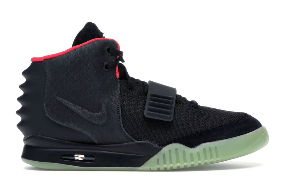 Nike Air Yeezy 2 Solar Red Lateral Side Shot