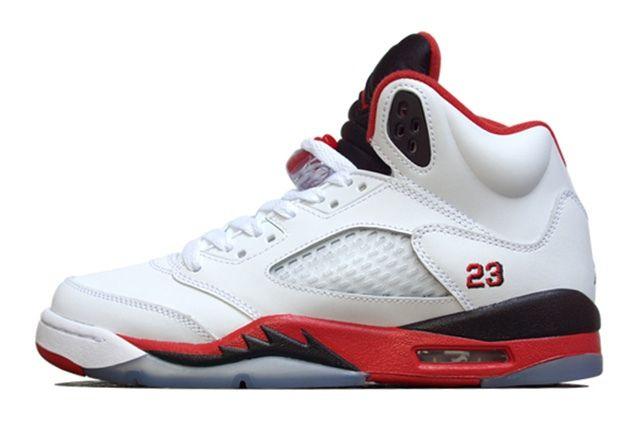 Air Jordan 5 Fire Red Black Tongue 3