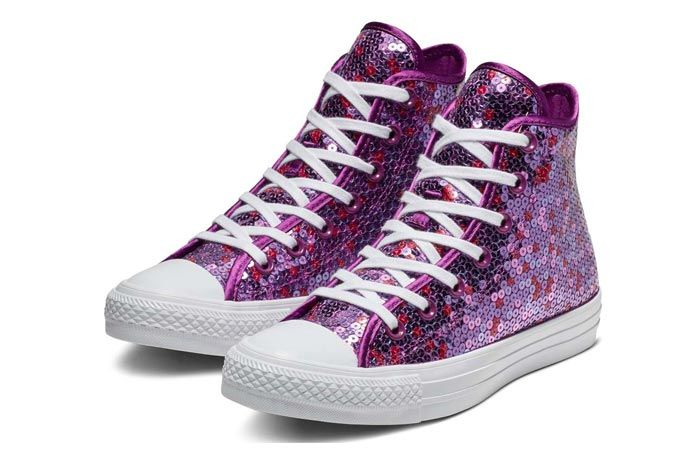 Converse Chuck Taylor All Star Sequin Violet 3