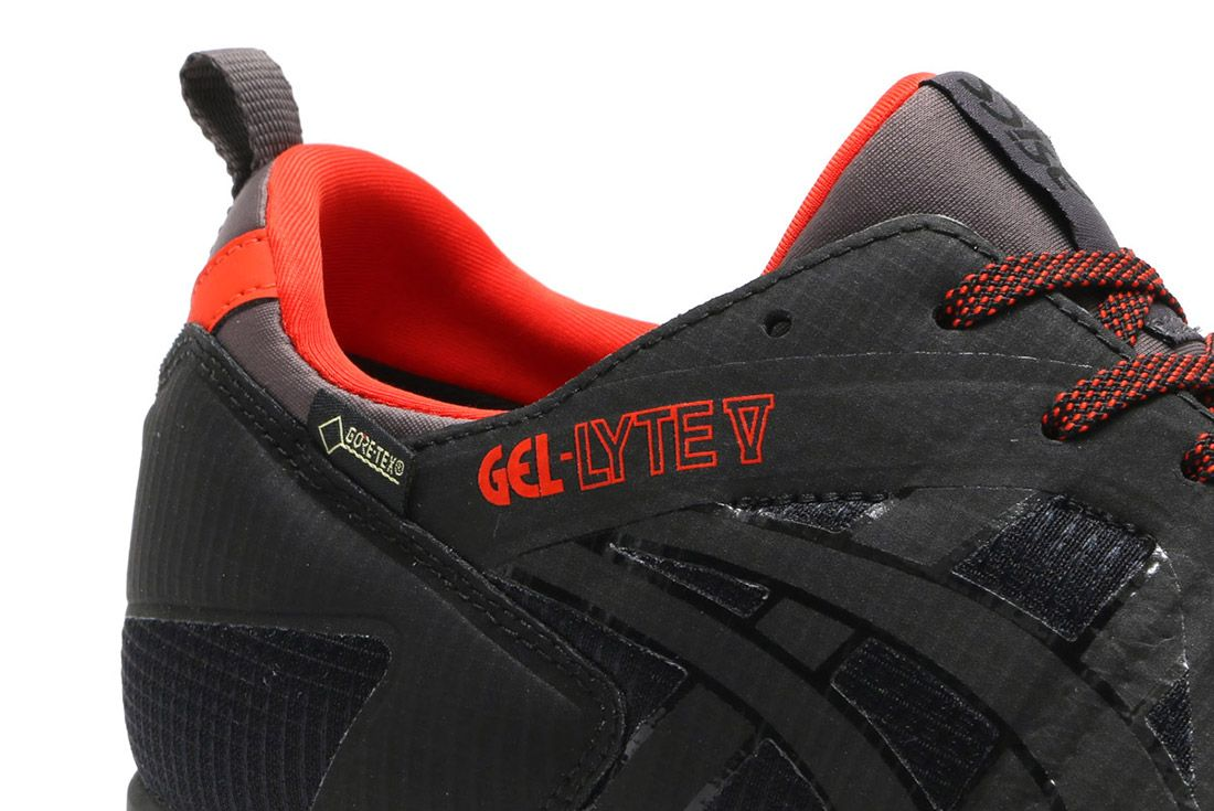 Asics Gel Lyte V Gore Tex Black Red 9