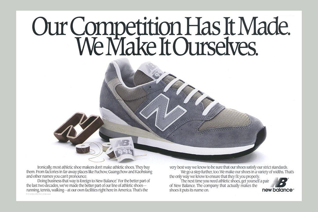 History Of New Balance 996 Advertisement 1