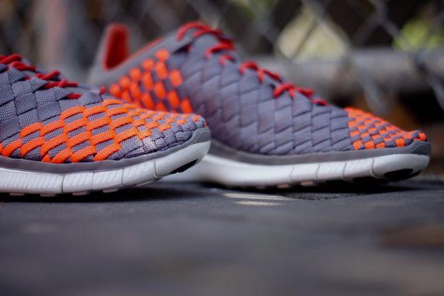Nike Free Inneva Grey Orange Toe Detail 1
