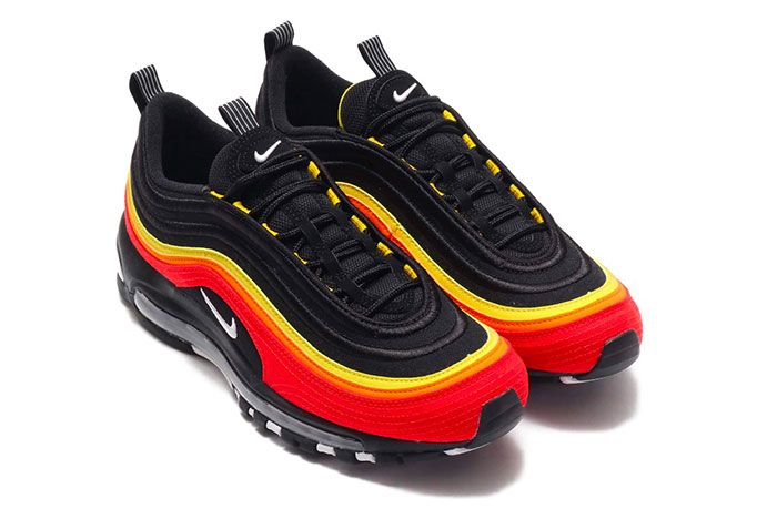 Nike Air Max 97 Chile Red Magma Orange Ct4525 001 Three Quarter Top Shot