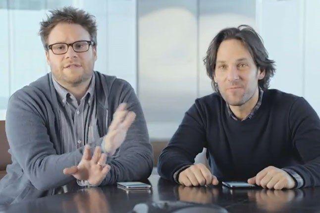Samsung Galaxy Superbowl Ad 2013 Seth Rogan And Paul Rudd 1