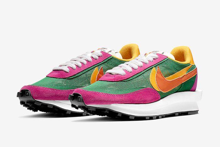 Sacai Nike Ld Waffle Pine Green Toe